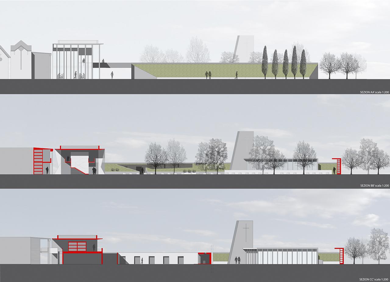 Concorso per l 39 ampliamento del cimitero di campi bisenzio - Portale architetti roma ...